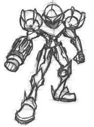 Samus Aran - Toon Sketch by ArcZero