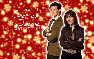 Sarah Jane and 11th Doctor Christmas Wallpaper by ElijahVD