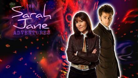 10th Doctor and Sarah Jane by ElijahVD