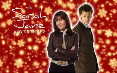 10th Doctor and Sarah Jane-Christmas Edition by ElijahVD