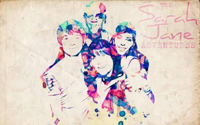 The Sarah Jane Gang: Watercolor Wallpaper by ElijahVD