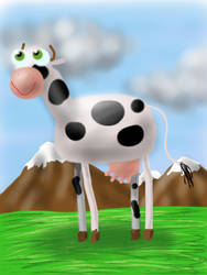 Leah the cow by ItsMyUsername