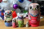 Matryoshka owl family #2 by ItsMyUsername
