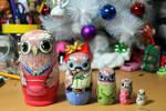 Matryoshka owl family #3 by ItsMyUsername