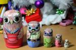 Matryoshka owl family by ItsMyUsername