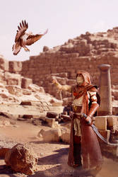 Bayek and Senu cosplay by 14th-division