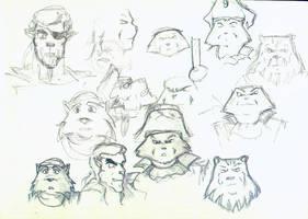 Captain Claw: szkice by Ritta101