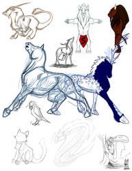 Nother Sketch Dump by Mizana