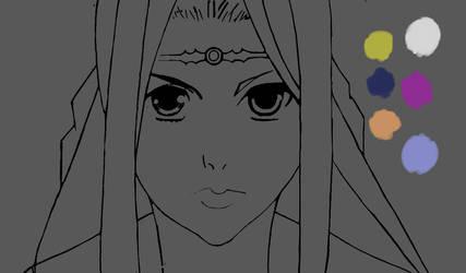 Rinda: Guin Saga (Rough Sketch #2) by zaknathein