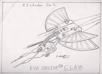 Eve Online Interceptor Claw Fanart Inktober by zaknathein