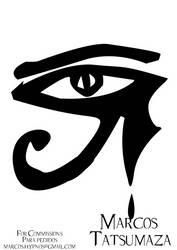 Horus Eye Tattoo by marcoshypnos
