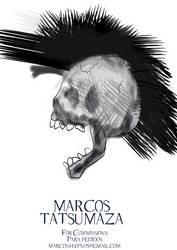 Skull Tattoo by marcoshypnos