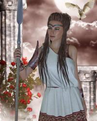 Goddess of Wisdom by Erevia