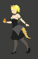 Bowsette concept by OurooborusART