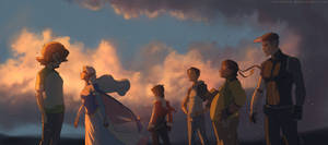 Voltron Legendary Defender x Sunset by SolKorra
