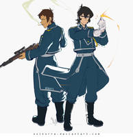 Keith Mustang and Lance Hawkeye by SolKorra