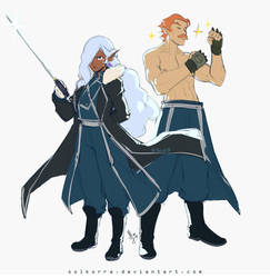 Allura Mira Armstrong and Coran Louis Armstrong by SolKorra