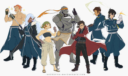 Voltron Legendary Defender x FMA Brotherhood by SolKorra