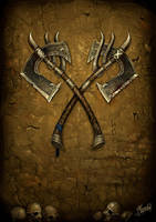 Double Axes by DusanMarkovic