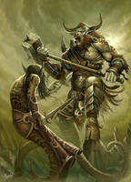 Minotaur Rage by DusanMarkovic