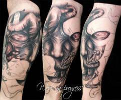 Dark calf by tatuato