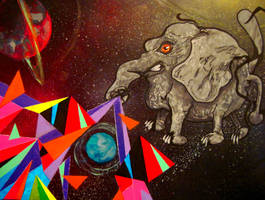 Elephant VS the Dispersive Prism by Rayjmaraca