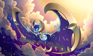 Blue-eyed Lunala by Lanmana