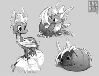 Spyro Sketches by Lanmana