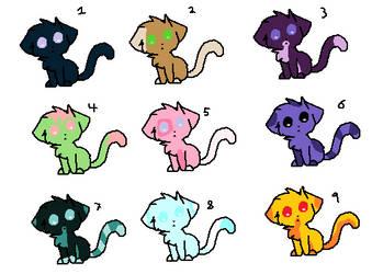Kitty Adoptables (Open) by KasaneYumi