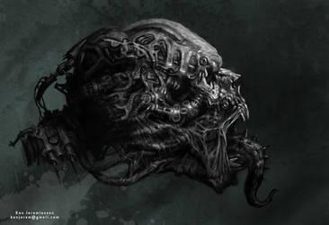 Mechanoid Skull by KenJeremiassen