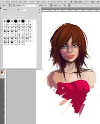 Cintiq 21UX + My new PC : First Sketch by WirbelnderWind