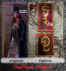 Commission - Vulcan robe pins by TealpandaArtifacts