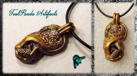 Kulve Taroth (Golden Dragon) Pendant by TealpandaArtifacts