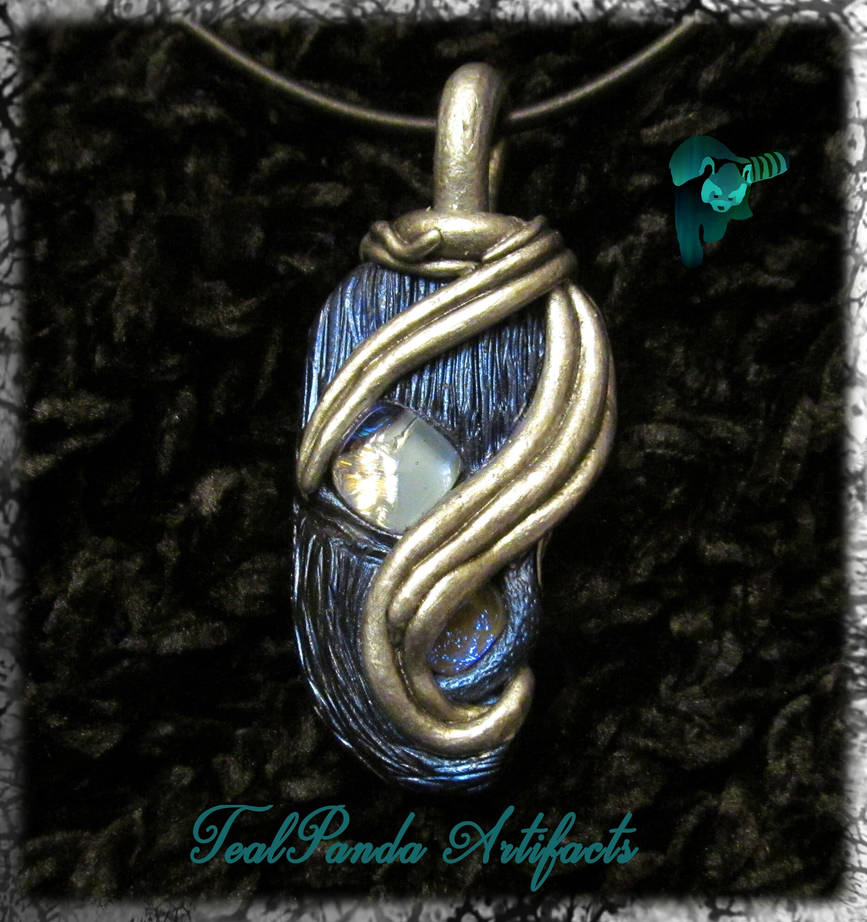 Tealpanda Artifacts - Blue And Silver Amulet by TealpandaArtifacts