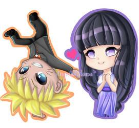 :DCOM: Chibi Naruto and Chibi Hinata by AngelicsMana