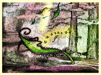 Sleeping Leaf by altergromit