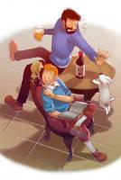 Tintin: An Usual Day in Marlinspike by MaGeHiKaRi