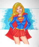 supergirl sketch by JamieFayX