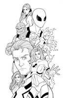 Fantastic Four/Future Foundation by JamieFayX