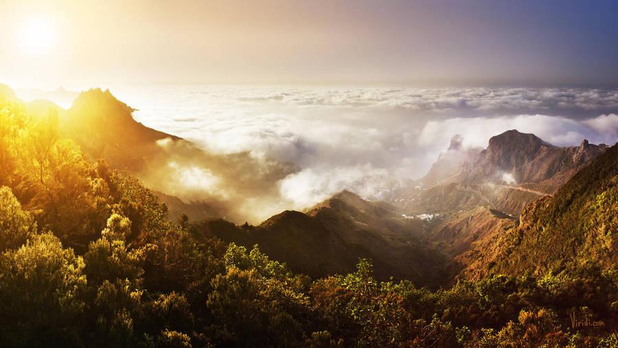 mountain sunset by Merkulov