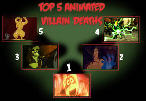 Top 5 Animated Villain Deaths Spoiler warning by toongrowner