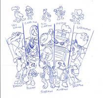 Sketch Digimon OC's by toongrowner