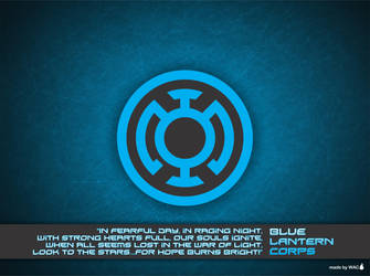 Blue Lantern Corps Wallpaper by Willianac