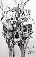 Creepy skulls by ULarka