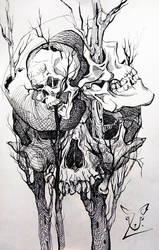 Creepy skulls by ULarka