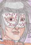 Selfportrait-Masked Teacher- by Wulfsista