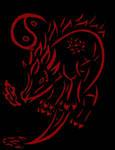 Lil asian Dragon_Tribal by Wulfsista