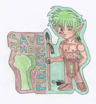 Save the Forrests Badge by Wulfsista