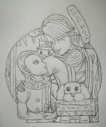 Happy Birthday, Vitya and merry Christmas(Sk)  by Wulfsista