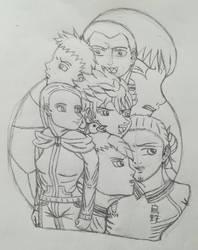 Let-s go, Karasuno!!!(Sketch) by Wulfsista